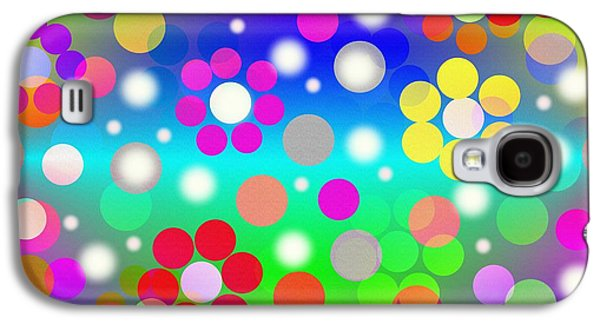 Abstract Movement Galaxy S4 Cases - Floating Flowers Galaxy S4 Case by Kathleen Sartoris