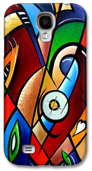 Contemporary Abstract Drawings Galaxy S4 Cases - Floating Hearts by Fidostudio Galaxy S4 Case by Tom Fedro - Fidostudio