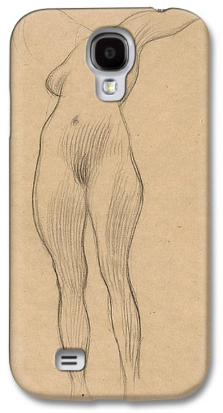 20th Drawings Galaxy S4 Cases - Floating Woman with Outstretched Arm Galaxy S4 Case by Gustav Klimt