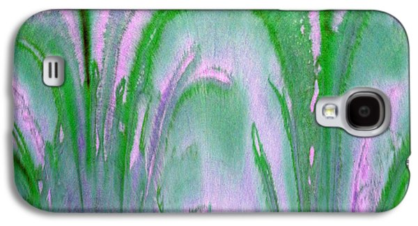 Digital Tapestries - Textiles Galaxy S4 Cases - Flora Lavender Galaxy S4 Case by FabricWorks Studio