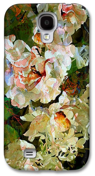 Abstracts Galaxy S4 Cases - Floral Fiction Galaxy S4 Case by Hanne Lore Koehler