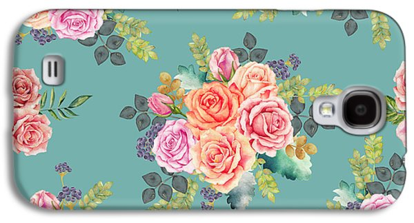 Floral Pattern 2 Galaxy S4 Case by Stanley Wong