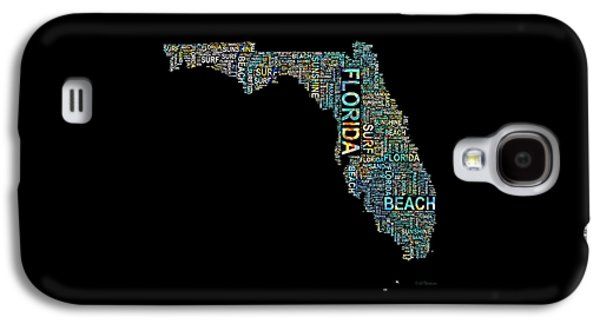 Charlotte Mixed Media Galaxy S4 Cases - Florida Word Art Map Galaxy S4 Case by Barbara Chichester