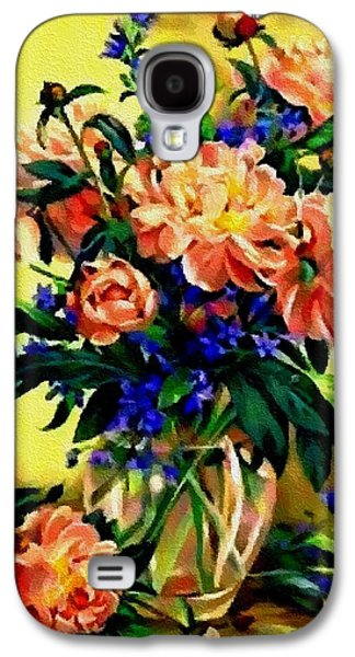 Abstract Digital Pastels Galaxy S4 Cases - Flower Bouquet Creations Catus 1 no. 2 H B Galaxy S4 Case by Gert J Rheeders