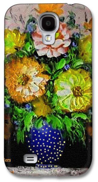 Abstract Digital Pastels Galaxy S4 Cases - Flower Bouquet For Easter 2015 V a Galaxy S4 Case by Gert J Rheeders