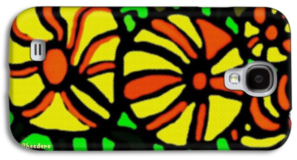 Abstract Digital Pastels Galaxy S4 Cases - Flower Concept and Leaf Surface Galaxy S4 Case by Gert J Rheeders