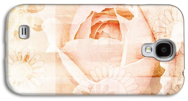 Graphic Mixed Media Galaxy S4 Cases - Flower Garden Galaxy S4 Case by Frank Tschakert