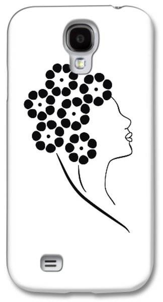 Lines Drawings Galaxy S4 Cases - Flower girl Galaxy S4 Case by Frank Tschakert