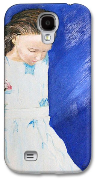 Girl Galaxy S4 Cases - Flower Girl Galaxy S4 Case by Stephen Simmons