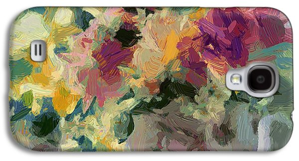 Abstract Nature Galaxy S4 Cases - Flower Jar 01 Galaxy S4 Case by Yury Malkov