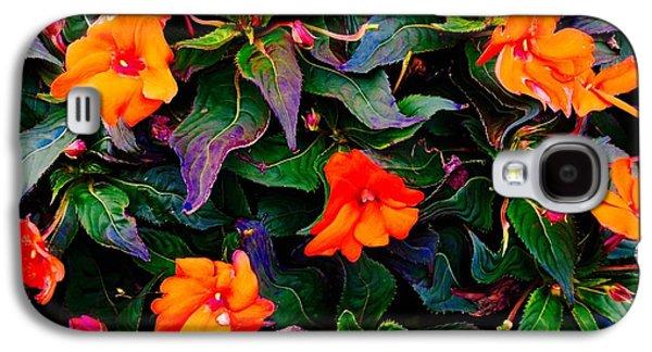 Abstract Digital Photographs Galaxy S4 Cases - Blurred Flowers  Galaxy S4 Case by Jerod Scheiferstein