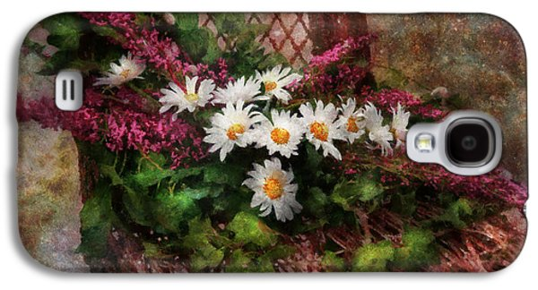 Suburban Digital Art Galaxy S4 Cases - Flower - Still - Seat Reserved Galaxy S4 Case by Mike Savad