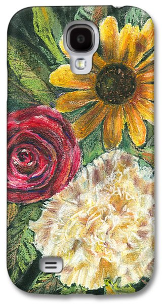 Floral Pastels Galaxy S4 Cases - Flower Trio Galaxy S4 Case by Arline Wagner
