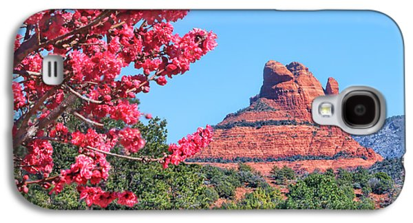 Flowering Tree - Sedona Red Rock Galaxy S4 Case by Nikolyn McDonald