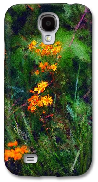 Photo Manipulation Digital Galaxy S4 Cases - Flowers in the Woods at the Haciendia Galaxy S4 Case by David Lane