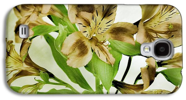 Green Galaxy S4 Cases - Flowers With a Twist Galaxy S4 Case by Marsha Heiken