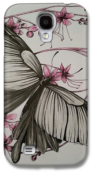 Drawing Galaxy S4 Cases - Flutterby Galaxy S4 Case by Candice Smith