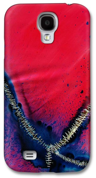 Blue Abstracts Sculptures Galaxy S4 Cases - Flutterby Galaxy S4 Case by J Eric Minton