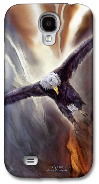 Eagle Mixed Media Galaxy S4 Cases - Fly Free Galaxy S4 Case by Carol Cavalaris