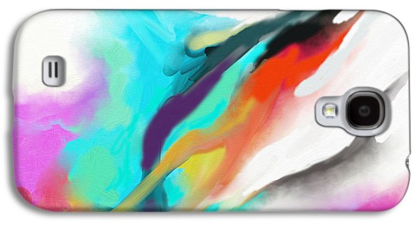 Abstract Digital Paintings Galaxy S4 Cases - Flying Colours Galaxy S4 Case by Nawi Samaraweera