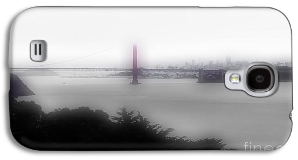Buildings By The Ocean Galaxy S4 Cases - Foggy City View Galaxy S4 Case by Heather Joyce Morrill