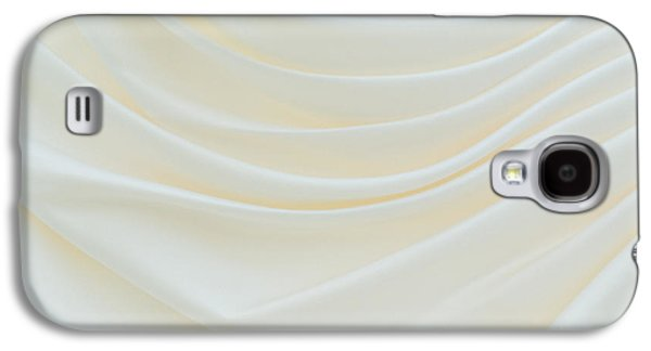 Dress Photographs Galaxy S4 Cases - Folded Fabric Waves Galaxy S4 Case by Meirion Matthias