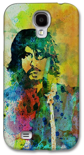 Watercolor Paintings Galaxy S4 Cases - Foo Fighters Galaxy S4 Case by Naxart Studio