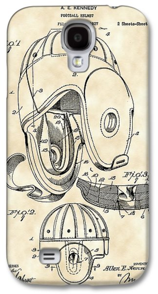 Pro Football Galaxy S4 Cases - Football Helmet Patent 1927 - Vintage Galaxy S4 Case by Stephen Younts