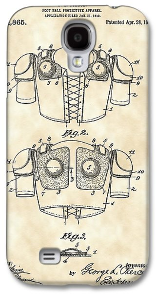 Pro Football Galaxy S4 Cases - Football Shoulder Pads Patent 1913 - Vintage Galaxy S4 Case by Stephen Younts