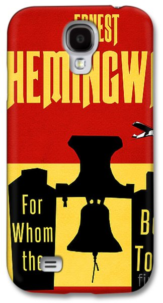 Jordan Drawings Galaxy S4 Cases - For Whom the Bell Tolls Book Cover Poster Art 1 Galaxy S4 Case by Nishanth Gopinathan