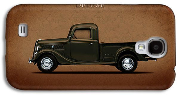 Truck Photographs Galaxy S4 Cases - Ford Deluxe Pickup 1937 Galaxy S4 Case by Mark Rogan
