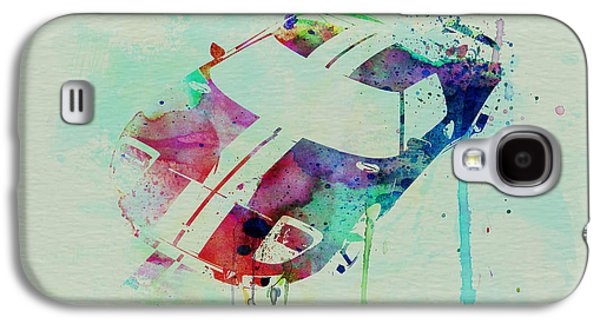 Old Car Drawings Galaxy S4 Cases - Ford GT Top Watercolor  Galaxy S4 Case by Naxart Studio