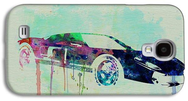Men Drawings Galaxy S4 Cases - Ford GT Watercolor 2 Galaxy S4 Case by Naxart Studio