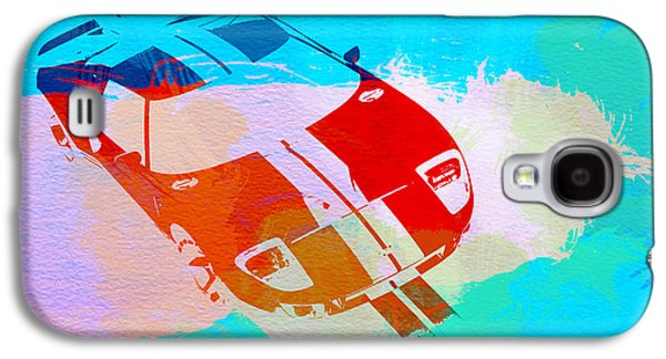 Concept Photographs Galaxy S4 Cases - Ford GT Watercolor  Galaxy S4 Case by Naxart Studio