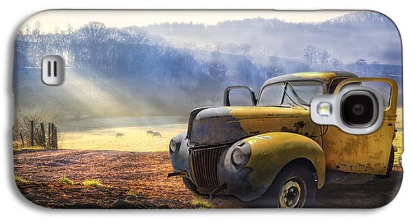 Pasture Scenes Galaxy S4 Cases - Ford in the Fog Galaxy S4 Case by Debra and Dave Vanderlaan