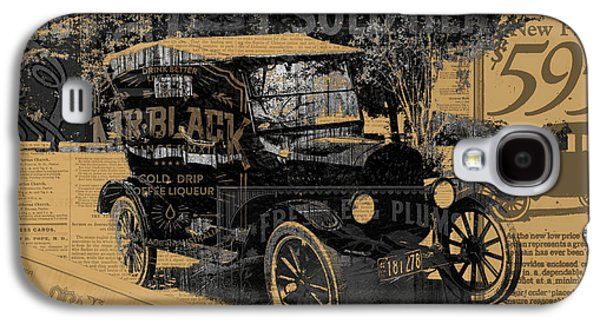 Ford Model T Car Galaxy S4 Cases - Ford Model T Made Using Found Objects Galaxy S4 Case by Design Turnpike