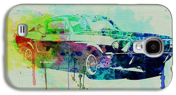 Automotive Galaxy S4 Cases - Ford Mustang Watercolor 2 Galaxy S4 Case by Naxart Studio