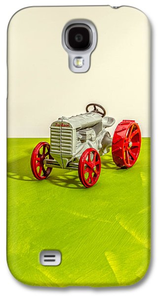 Machinery Galaxy S4 Cases - Fordson Tractor Profile Galaxy S4 Case by Yo Pedro