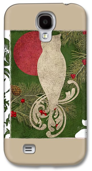 Forest Holiday Christmas Owl Galaxy S4 Case by Mindy Sommers