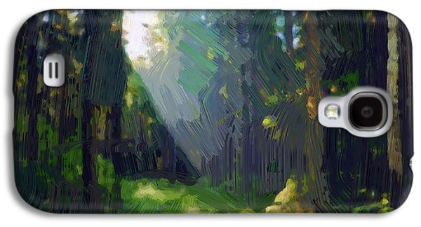 Colorful Abstract Galaxy S4 Cases - Forest light Galaxy S4 Case by Yury Malkov