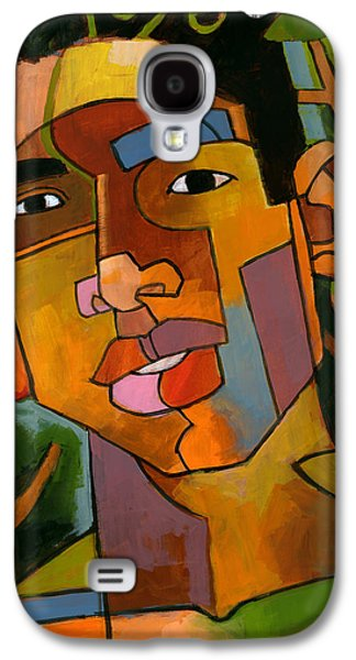 Faces Paintings Galaxy S4 Cases - Forest Spirit Galaxy S4 Case by Douglas Simonson