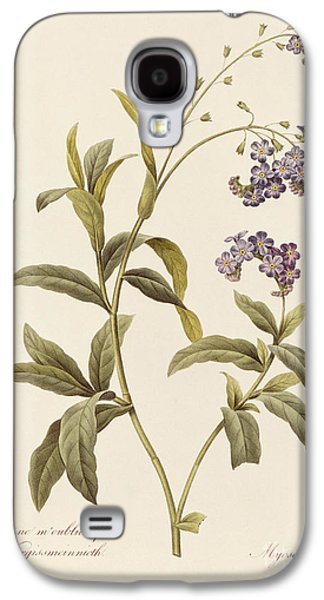 19th Galaxy S4 Cases - Forget Me Not Galaxy S4 Case by Pierre Joseph Redoute