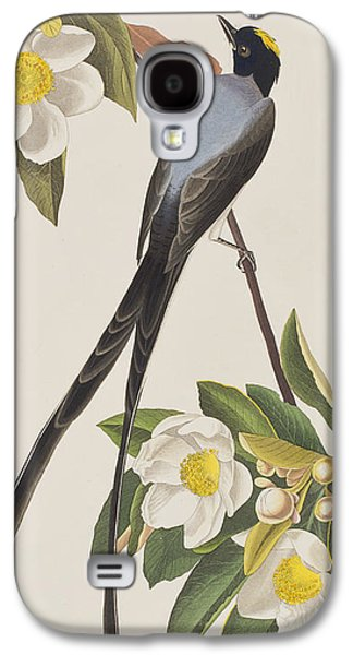 Talons Paintings Galaxy S4 Cases - Fork-tailed Flycatcher  Galaxy S4 Case by John James Audubon