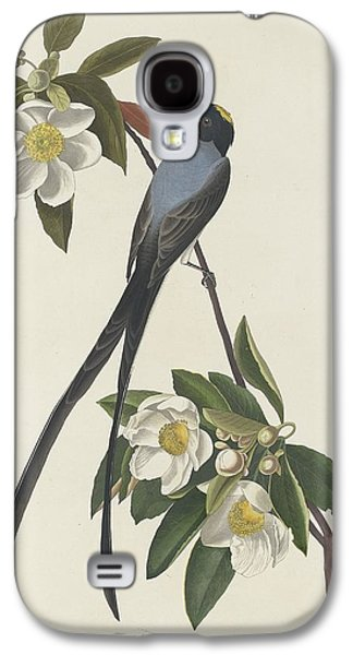 Feather Drawings Galaxy S4 Cases - Forked-Tail Flycatcher Galaxy S4 Case by John James Audubon