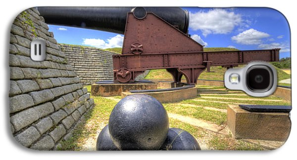 Sullivan Galaxy S4 Cases - Fort Moultrie Cannon Balls Galaxy S4 Case by Dustin K Ryan
