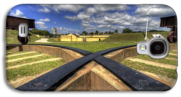Fort Moultrie Cannon Tracks Galaxy S4 Case by Dustin K Ryan