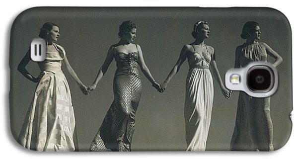 Ball Gown Galaxy S4 Cases - Four Models Standing, Holding Hands Galaxy S4 Case by Conde Nast