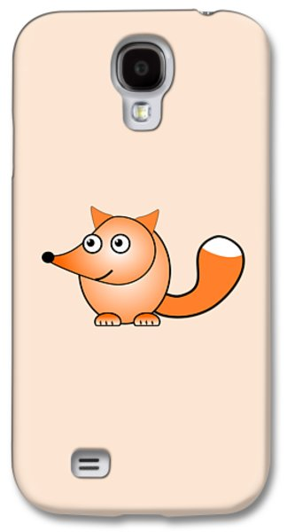 Cartoon Galaxy S4 Cases - Fox - Animals - Art for Kids Galaxy S4 Case by Anastasiya Malakhova
