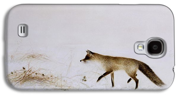 Fox In Snow Galaxy S4 Case by Jane Neville