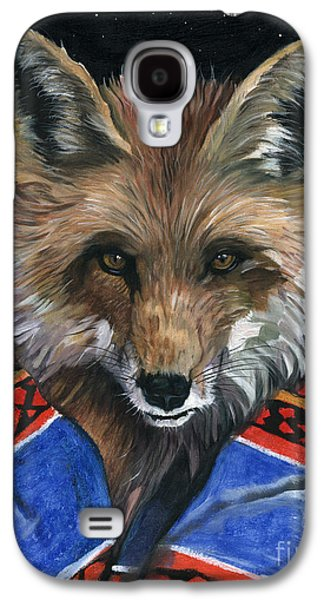 Shamanism Galaxy S4 Cases - Fox Medicine Galaxy S4 Case by J W Baker